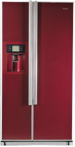 Cherry colored refrigerator