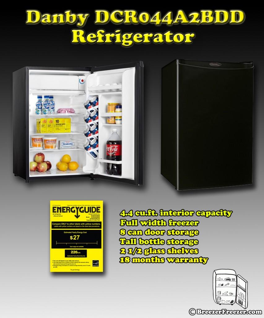 Danby DCR044A2BDD refrigerator - Infographic