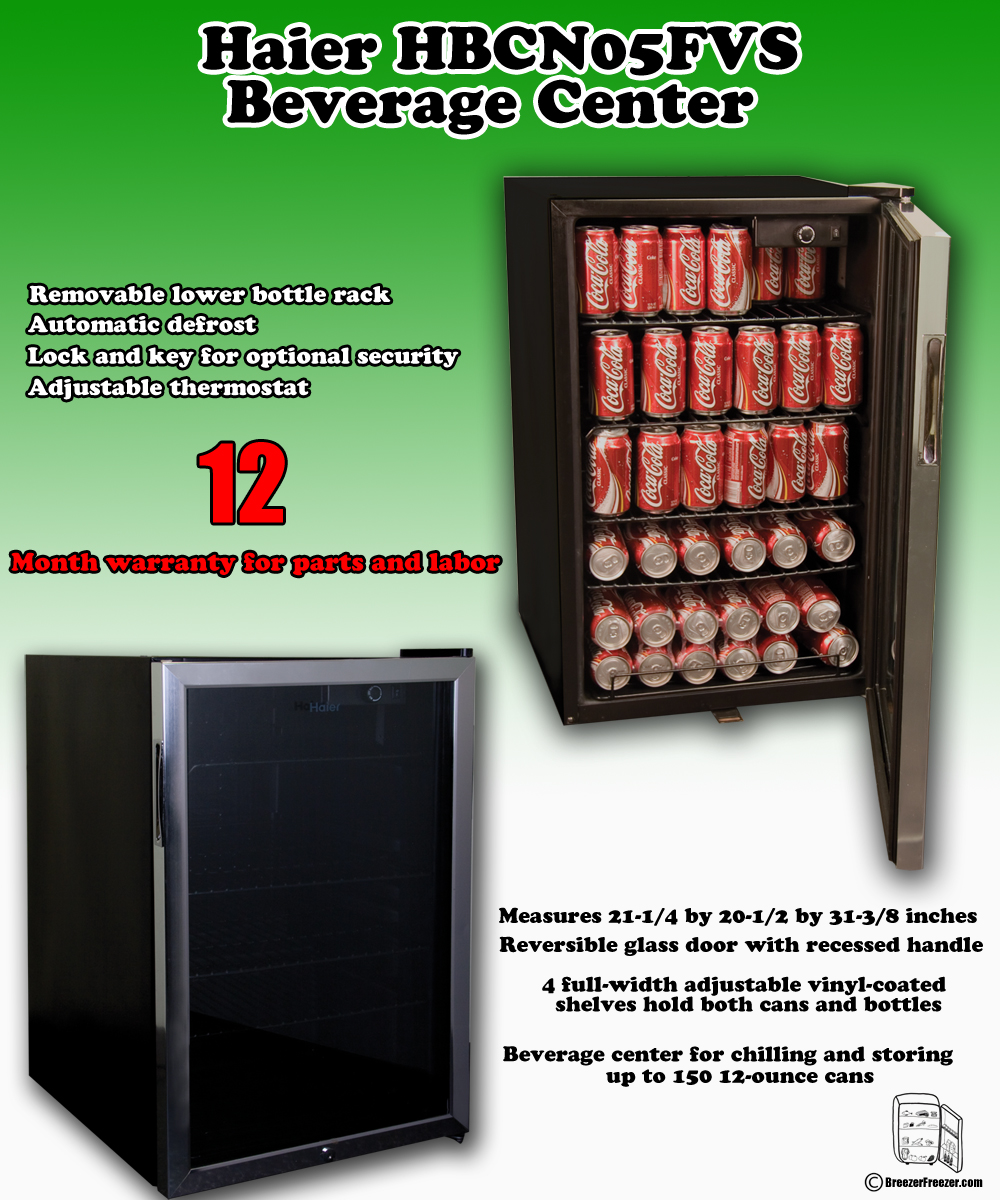 haier hbcn05fvs beverage center infographic