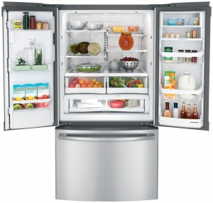 Refrigerator swing doors space needed