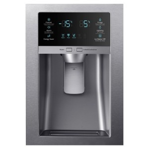 Samsung RF28HMEDBSR Refrigerator Temperature Control and ice cubes