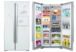 Side-by-side door refrigerator