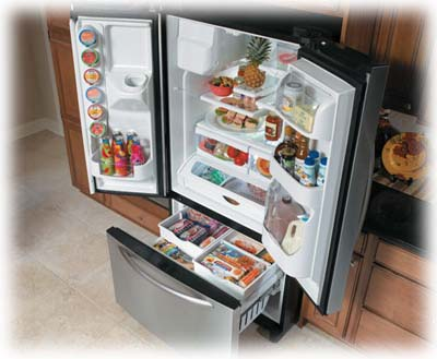 French doors refrigerator
