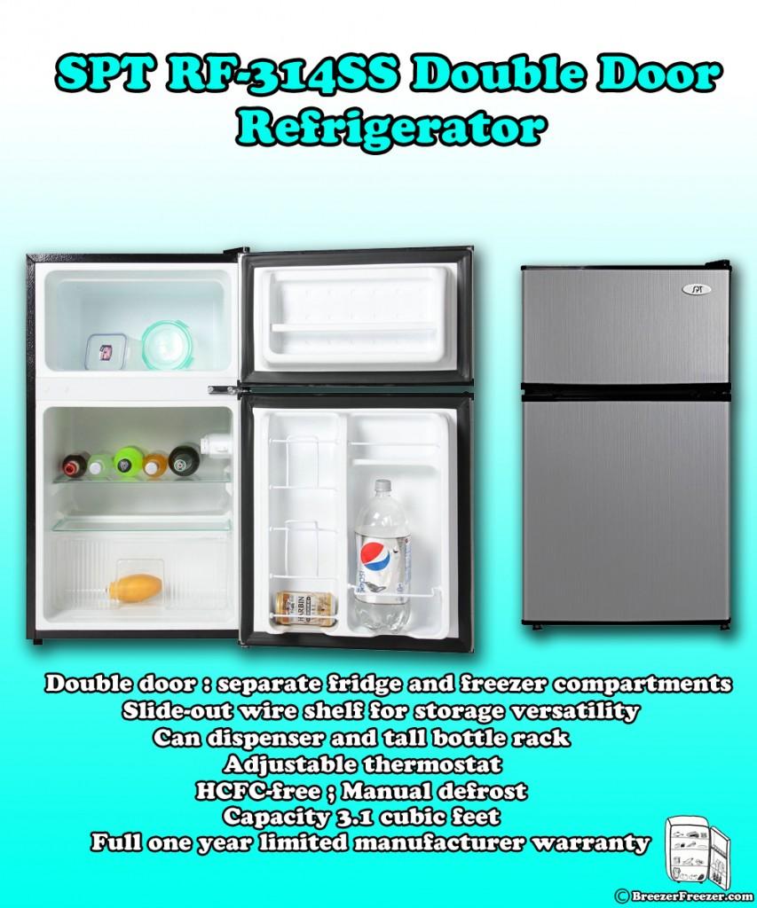 SPT RF-314SS Double Door Refrigerator - Infographic