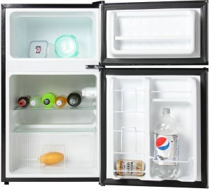 SPT RF-314SS Double Door Refrigerator - inside look