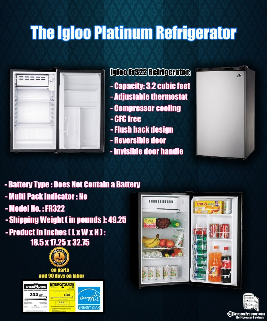 The Igloo Platinum Refrigerator - Infographic