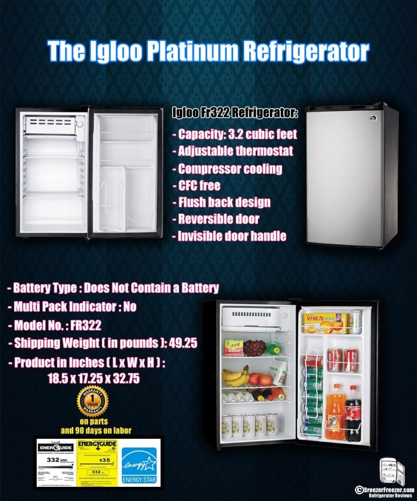 The Igloo Platinum Refrigerator - Infographic
