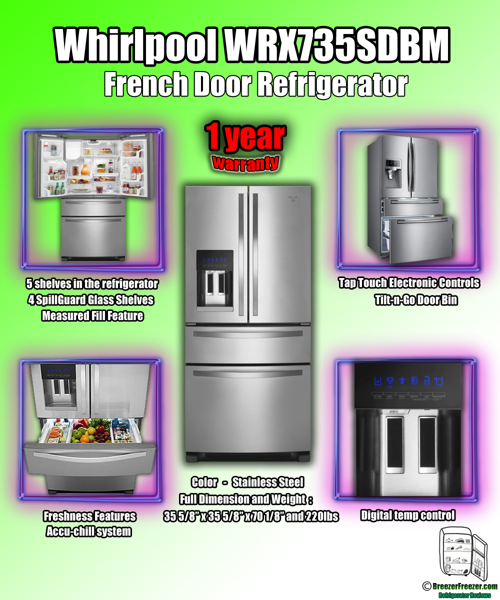Whirlpool WRX735SDBM French Door Refrigerator   Infographic
