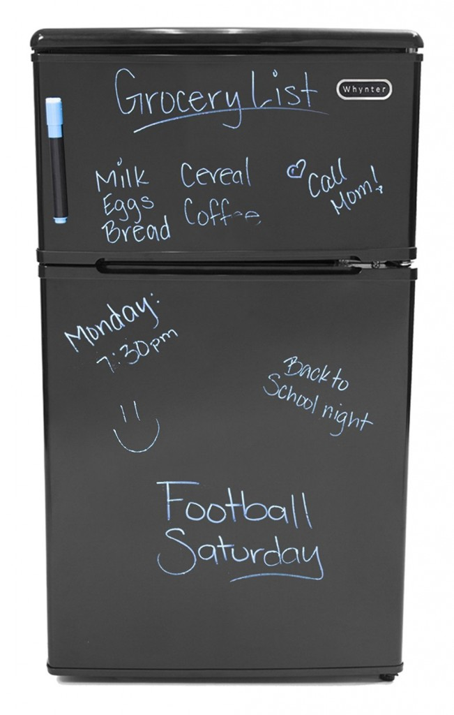 Black Dry-Erase Door with one Neon Blue Marker