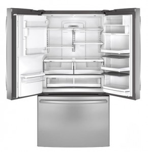 GE Profile PFE28RSHSS 36 inches French Door Refrigerator - Drawers and shelves