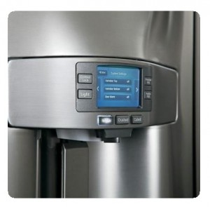 GE Profile PFE28RSHSS 36 inches French Door Refrigerator - LCD screen display