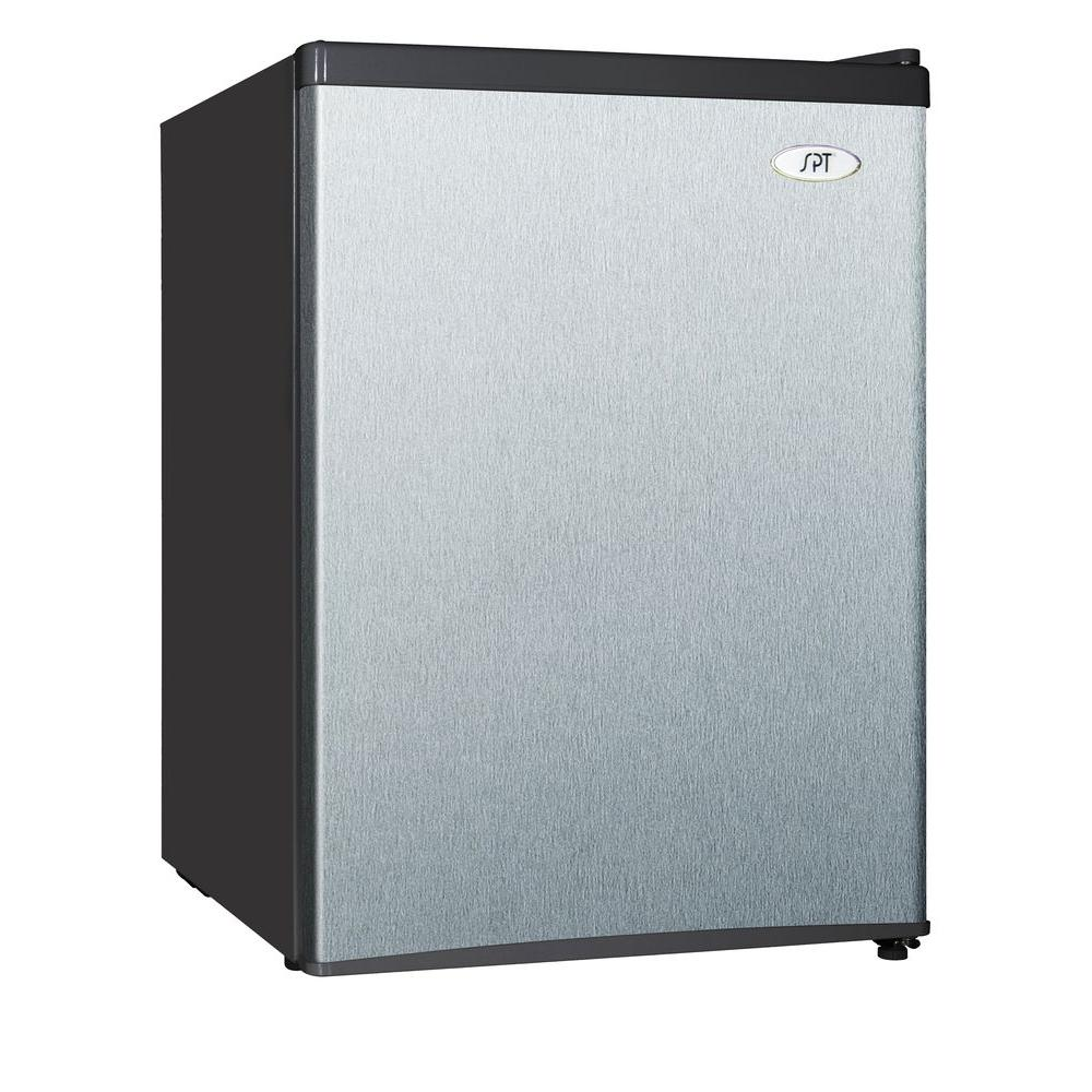 SPT RF-244SS Compact Refrigerator, Stainless, 2.4 Cubic Feet
