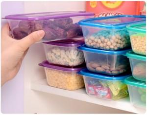 small plastic bins fridge