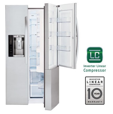 LG LSXS26366S 35-Inch Side by Side 26 Cubic Feet Freestanding Refrigerator